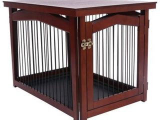 2 in 1 configurable Pet Crate and Gate  Medium  Brown