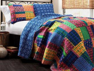 The Curated Nomad Doherty Multicolored 3 piece Quilt Set  Retail 106 99