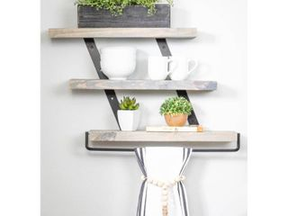 Del Hutson Designs Industrial Grace Three Tier Floating Shelves  Retail 83 49