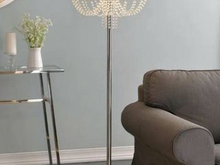 GiGi 60 inch Chrome with Crystal Accents Floor lamp  Retail 112 15