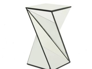 Amiel Geometrical Mirrored End Table by Christopher Knight Home  Retail 178 49