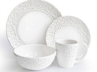 American Atelier Bianca White 16 piece Dinnerware Set  Retail 87 49