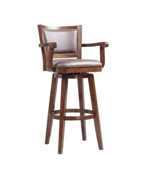 Broadmoor Extra Tall Cappuccino Swivel Wood Stool  Retail 163 99