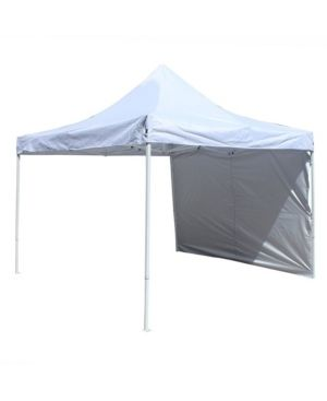fAlEKO Collapsible Gazebo with Removable Wall Panel   10 x 10 ft   White