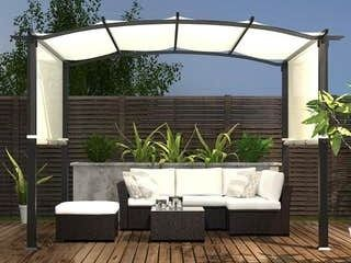 10 x8  Pergola Gazebo Canopy Outdoor Patio Garden Steel Frame Sun Shelter with Retractable Canopy Shades  Retail 689 99