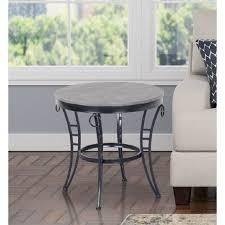 Porch   Den Erawan Emmerson Grey Round End Table  Retail 79 98