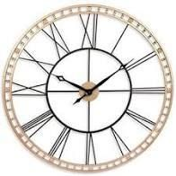 The Tower XXl large Open Face Metal Wall Clock 39 inch   Black and Gold II  Retail 164 49