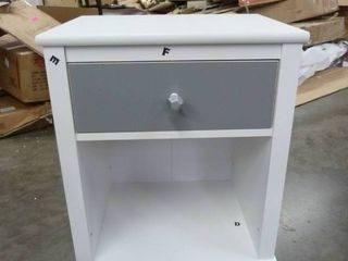White and Grey Nightstand