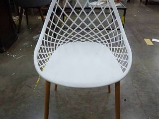Funky White Chair....has a couple flaws