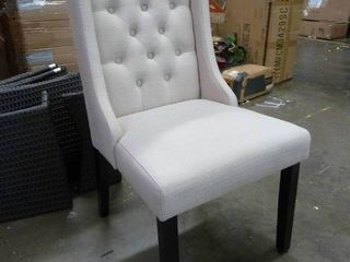 Wingback Tufted Dining Chair