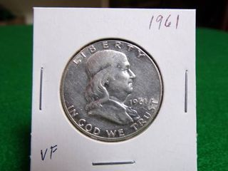 1961 FRANKLIN HALF DOLLAR VF