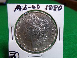 1880 MORGAN DOLLAR MS60