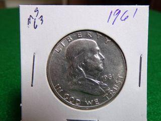 1961 FRANKLIN HALF DOLLAR MS63