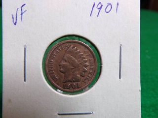 1901 INDIAN HEAD PENNY VF