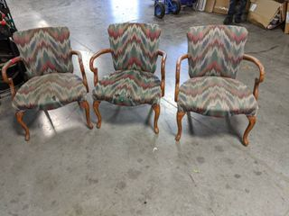 3  Cushioned Chairs