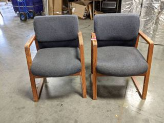 2  Cushioned Chairs