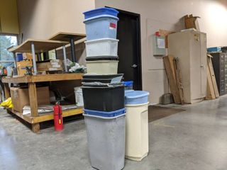 lot Of Assorted Trash Cans