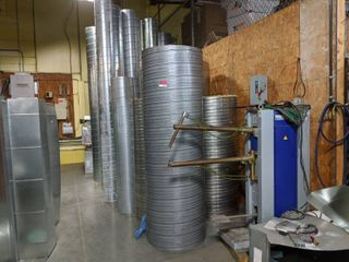Assorted Sizes Of Spiral Pipe