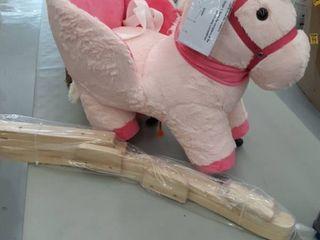 linzy 21  Unicorn Baby Rocker W safety Belt