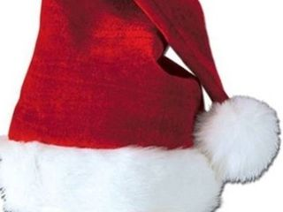 Child s Plush Santa s Hat  12pack party favors