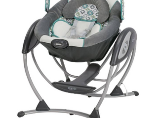 Graco Glider lX Gliding Swing   6 Gliding Speeds  Option To Plug In  soothing vibration
