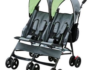 Delta Children LX Side by Side Double Stroller, Lime Green