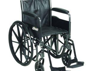Transport WheelchairWheelchairs K2 Product Description  SlvrSprt2 20 DetFullArm SwgFt 1 ea