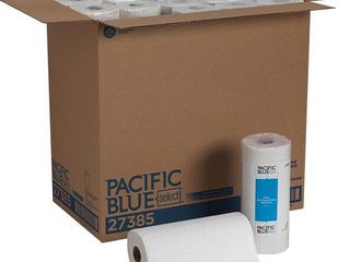 PACIFIC BlUE SElECT PERFORATED PAPER TOWEl  8 4 5X11 WHITE  85 ROll  30 ROllS CT