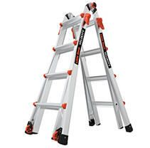little Giant ladder Systems 15417 001 Velocity 300 Pound Duty Rating Multi Use ladder  17 Foot