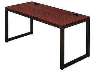 Shw Home Office 55 inch large Computer Desk Black cherry