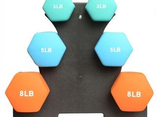BalanceFrom 32 Pound Dumbbell Set with Stand