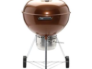 Weber 22  Original Kettle Premium Charcoal Grill Model 14402001 Copper