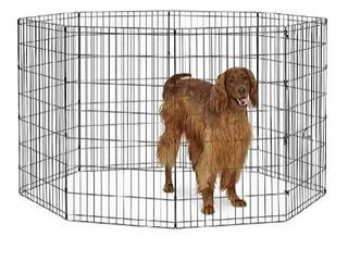 World Pet Products B556-42 Foldable Exercise Pet Playpen Black Large/24