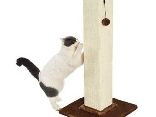 Amazonbasics Premium Cat Scratching Post - Large, Wood
