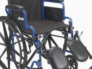 Blue Streak Wheel Chair 16 Flip Back Desk Arms Elevating legrests
