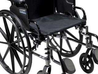 Cruiser 111 Wheelchair 18  Flip Back Detachable Full Arm Elevating leg Rest