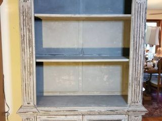 Grey Barnyard Rustic Display Shelf