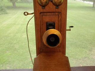 Stromberg Rochester N Y Brass Fixtured Antique Wall Telephone