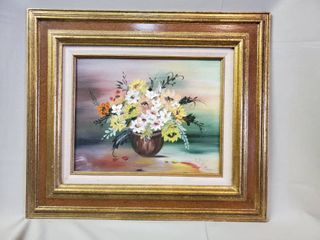 Oil Painting of Bouquet Signed by R Payne
