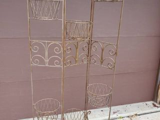 Wrought Iron Foldable 6 Basket Yard Decor