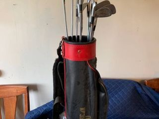 Vintage Golf Club With Bag location Storage