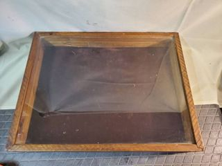 Wooden Framed Jewelry Display Case 22in x 17 in