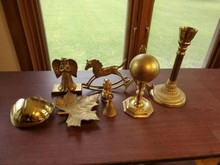 lot of 8 Solid Brass Decorative Pieces