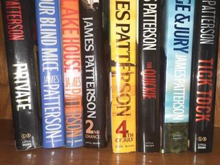 lot of Eight James Patterson Books