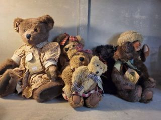lot of 6 Boyd s Bear   All w  Name Tags