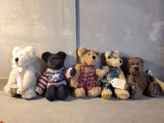 lot of 5 Miniture Boyds Bears   See Photos for Names