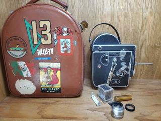 Paillard Bolex H16 Movie Camera  with lens 1inch f 1 9  In leather Case with Accessories