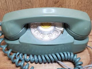 1969 Avocado Green Bell System 702B Princess Rotary Desk Telephone Xl Cord Works