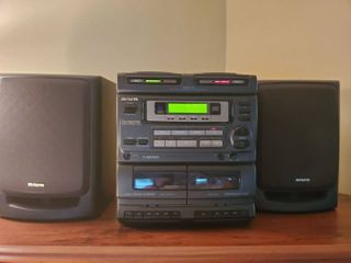 AIWA Twin CD And Cassette and Radio Player  with 2 Speakers
