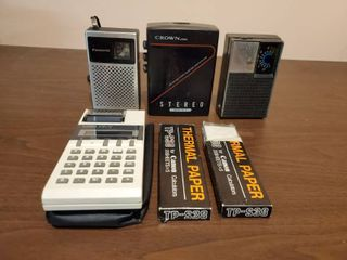 lot of Vintage Pocket Calculator and Radios